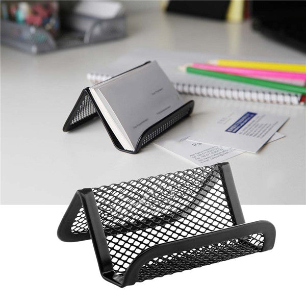 Wil je alles weten over Metal Mesh Desktop Collection Business Card Name Card Holder Organizer? Hier lees je alles over Desk Organizers & Accessories Stationery Supplies