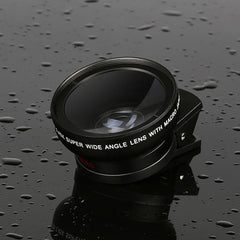 49mm 2 In 1 SmartPhone Lens Wide Angle Lens+Macro Lens For iPhone iPad Samsung Xiaomi Huawei