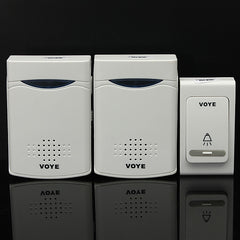 38 Music Chime Wireless Door Bell 1 Remote Control + 2 Receiver
