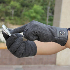 Winter Men's Pure Full Finger Smartphone Touch Screen Cashmere Gloves Mittens
