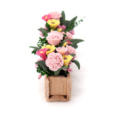 1:12 Doll House Aertificial Miniature Clay Flower Plant Pot DIY Craft Ornament Garden Decor