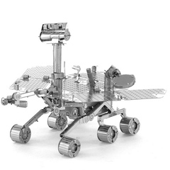 Aipin DIY 3D Puzzle Stainless Steel Assembled Model Mars Rover Silver Color