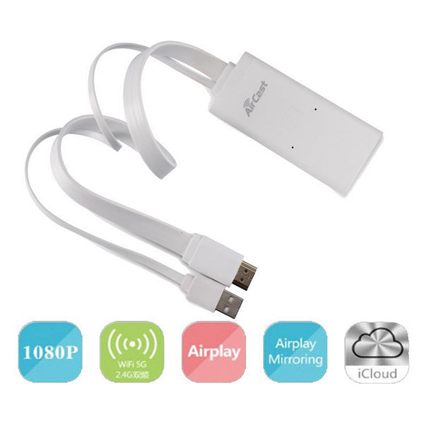 X6 Aircast Airplay Wireless 5G Wifi Display Receiver Miracast HDMI TV Dongle