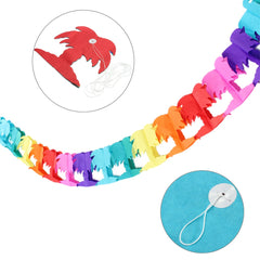 3m Themed Events Beach Party Garlands Rainbow Decoration Palm Tree