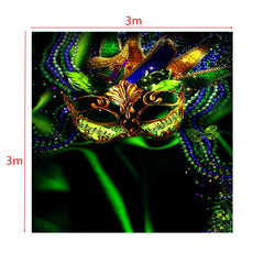 Carnival Mask Masquerade Custom Photography Background Backdrop For Studio