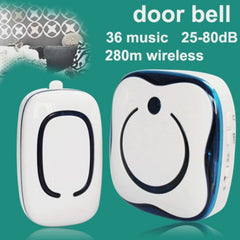 CACAZI 9809 36 Melody Chime Wireless Doorbell Alarm