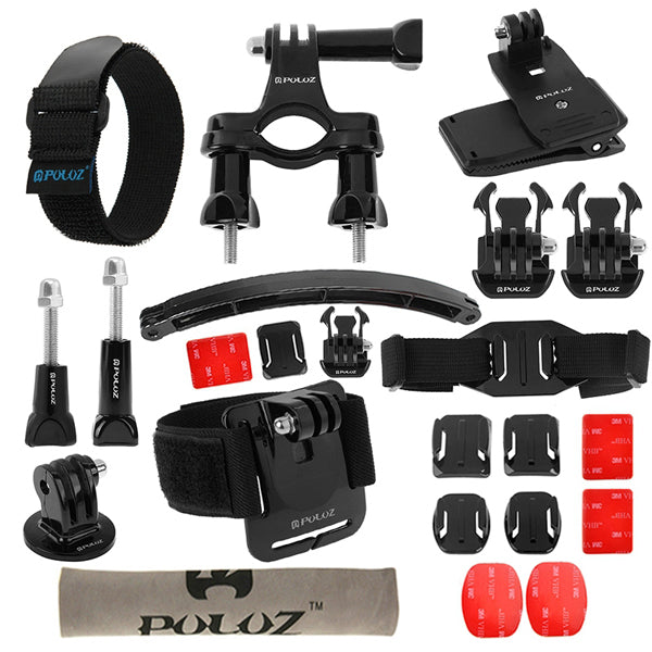 PULUZ 24 in 1 Bike Mount Accessories Combo Kit for Gopro SJCAM Yi Action Camera