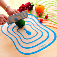 3Pcs Plastic Antibacterial Cutting Board Chopping Block Frosted Translucent Chopping Board