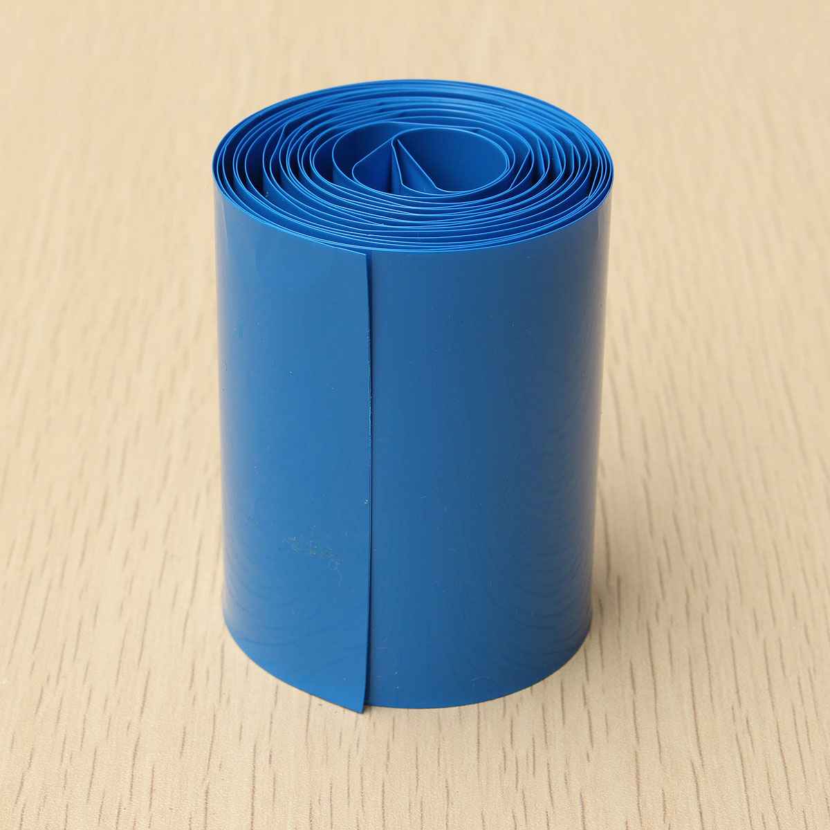 2 Meter 64mm Width PVC Heat Shrink Wrap Tube Blue for AA Battery Pack