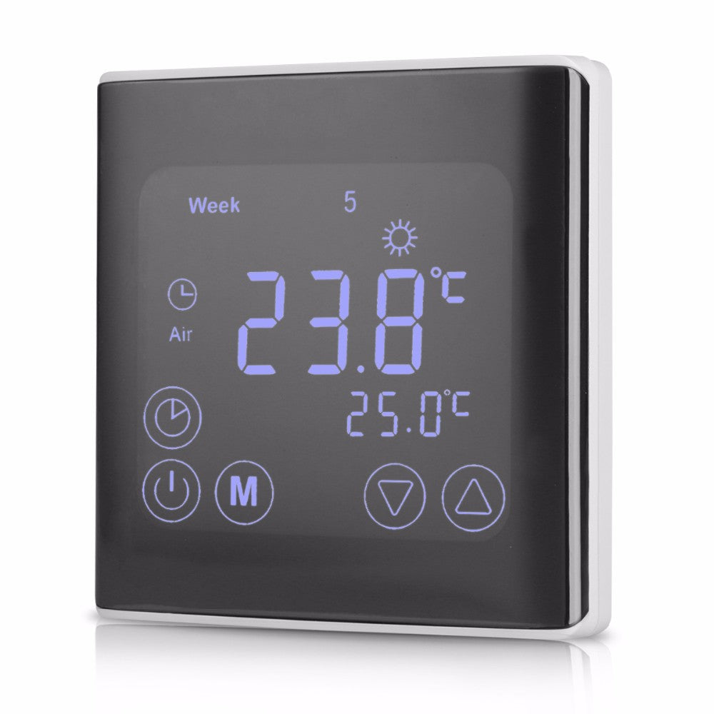 Wil je alles weten over LCD Touch Screen Wall Floor Termostat 85-250V 16A Weekly Programmable Automatic Temperature Control System? Hier lees je alles over Home Automatic Kits