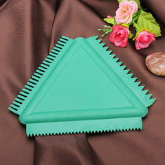 Rubber Triangular Scraper For Wall Art Coating Wall Painting Tools
