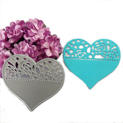 Love Heart Cutting Dies Stencils DIY Scrapbooking Paper Card Tool Embossing Decor