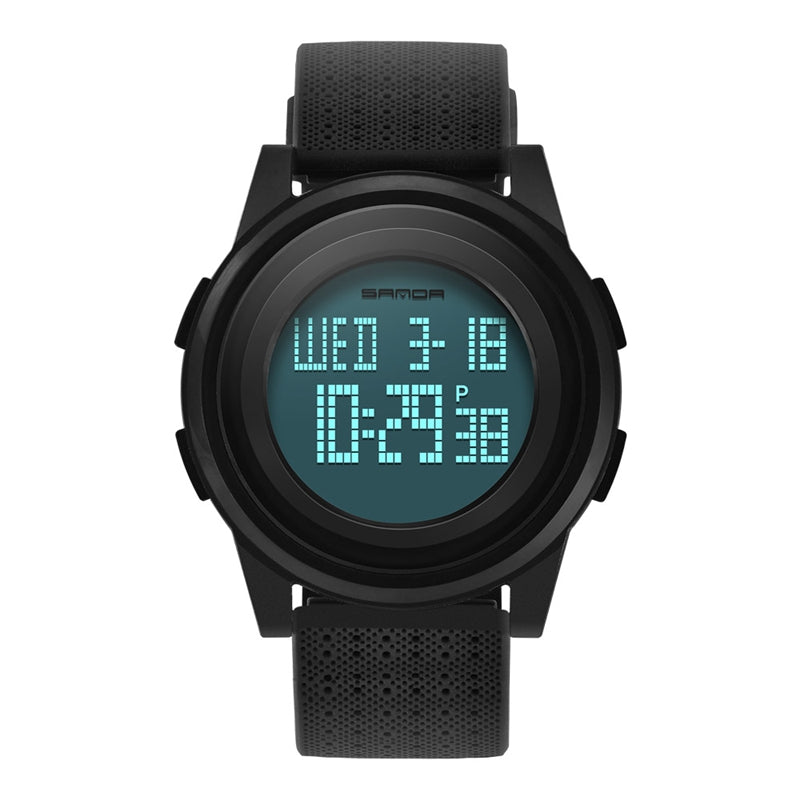 Wil je alles weten over SANDA 337 Digital Watch LED Waterproof PU Leather Sports Student Watch? Hier lees je alles over Jewelry and Watch Quartz Watches