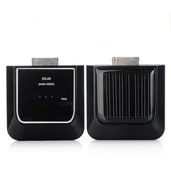 Black Solar Portable Backup Power For iPhone 4G 3G iPod Nano Touch