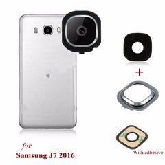 Back Rear Camera Glass Frame Holder Lens Cover For Samsung Galaxy J7 2016