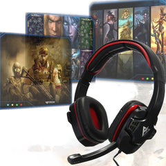 Gaming Auricolari Surround Stereo Headband Cuffia USB Bass LED with Mic for PC