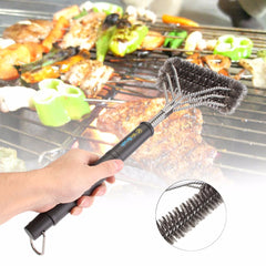 New Stainless Steel Wire Grill Cleaning Tool BBQ Brush Cleaner Barbecue Tool