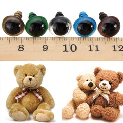 100pcs 12mm Baby Kids Handicraft Art Mix Color Plastic Safety Eyes DIY Teddy Bear Doll Plush Toys Puppet Crafts