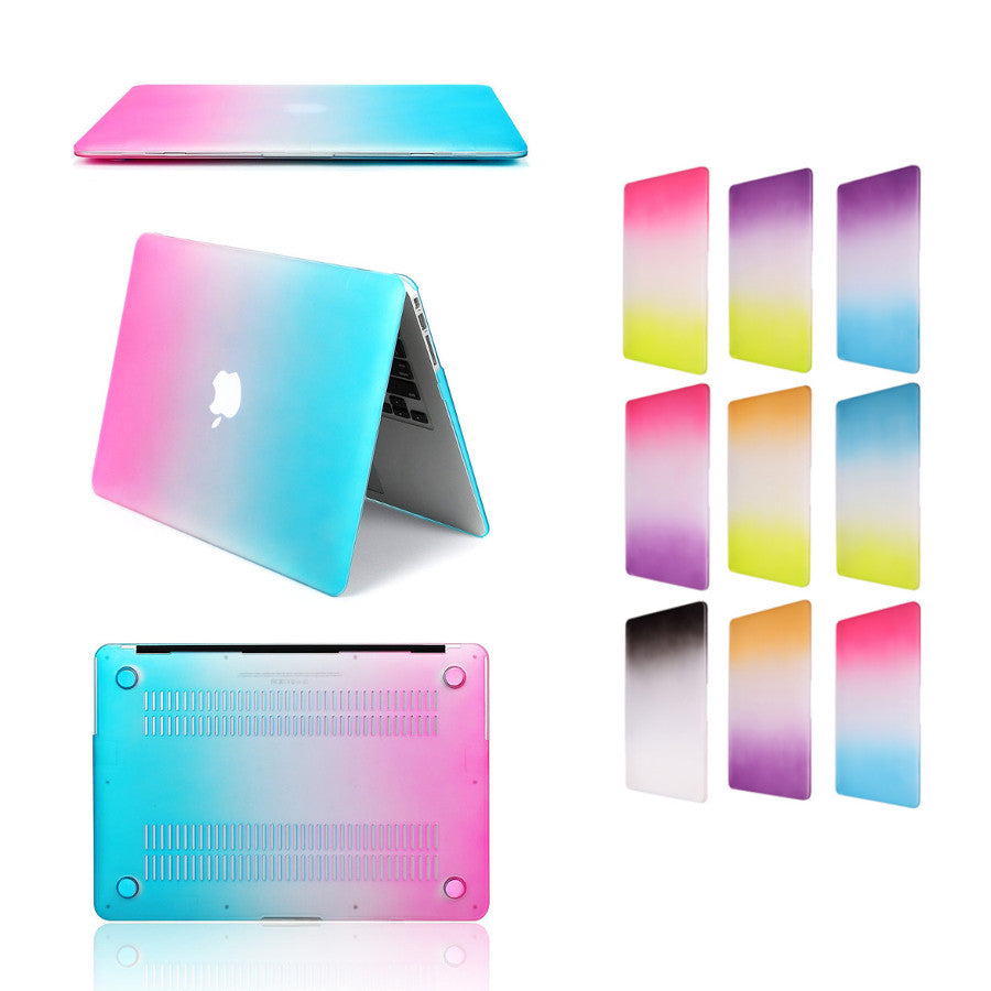 Gradient Color Ultra Slim Lightweight Scratch-proof Rainbow Case Cover For MacBook Retina 12 Inch