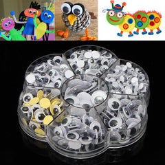 1 Box 5 to 12mm Round Wiggly Wobbly Googly Eyes Children Kids DIY Self Adhesive Scrapbooking Crafts