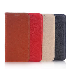 Litchi Grain Genuine Leather Stand Case For Samsung Galaxy S6 Edge