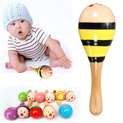 Musical Wooden Colorful Toys Toddler Sound Sand Hammer for Children