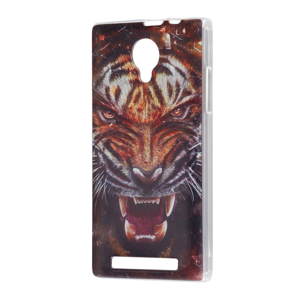 Colorful Paint Pattern Hard PC Protective Case Cover For THL T6S