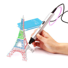 RP600A 3D Printing Pen 5V 2A USB Power 0.6mm Nozzle Adjustable Speed