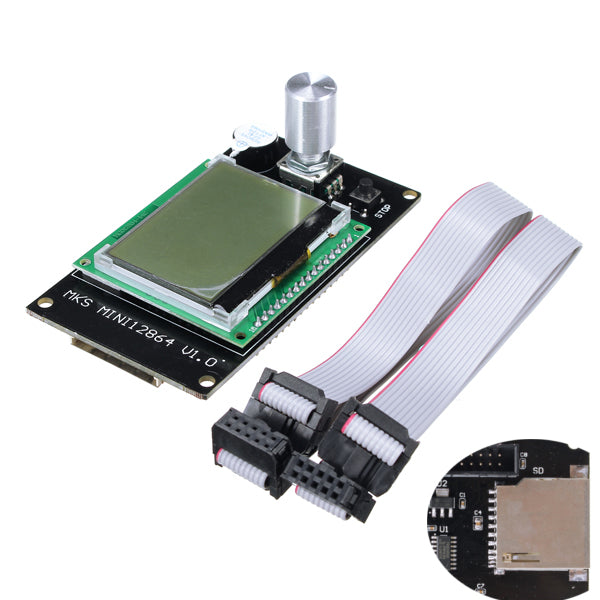MKS Mini 12864LCD Controller Side Inserted SD Card For 3D printer Marlin