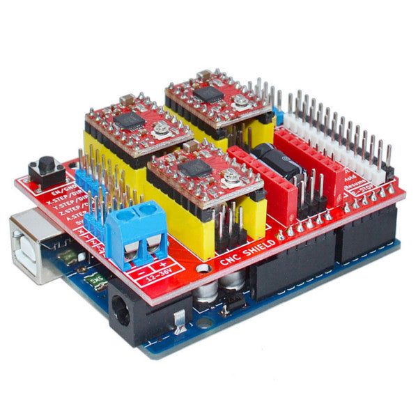 Geekcreit® UNO R3 With 4pcs A4988 Driver With CNC Shield V3 Expansion Board For Arduino 3D Printer