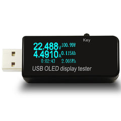 Type-c OLED 128x64 USB Tester DC Current Voltage Power Bank Battery Capacity Monitor QC3.0 Phone Charger Meter 3-30V
