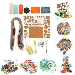 9PCS/Set Creations Strip Paper Quilling Kit Tweezer Board Mold Slot Tools DIY Craft