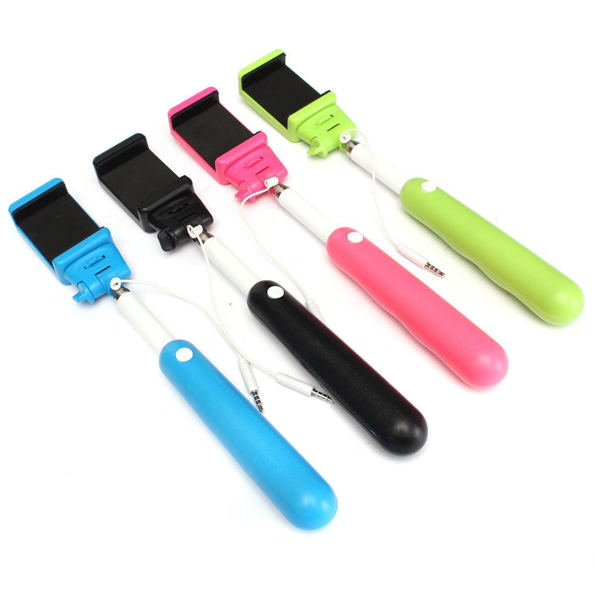 Handheld Wire Remote Control Monopod Selfie Stick With Bag For Cellphone