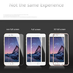 Full Cover 3D Tempered Glass / Screen protector voor iPhone (Alle modellen)