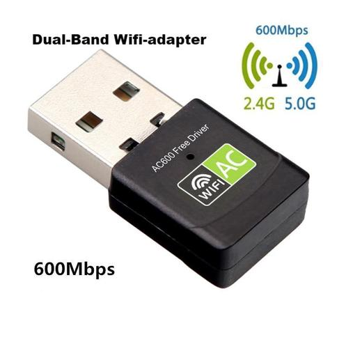 600 MBPS Dual band USB Wifi Adapter - Super snel internet - Probleemloos streamen
