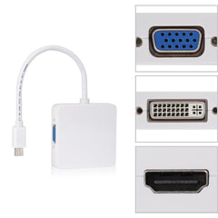 3 in 1 Thunderbolt Mini DP Displayport to HDMI DVI VGA Adapter kabel for MacBook Pro