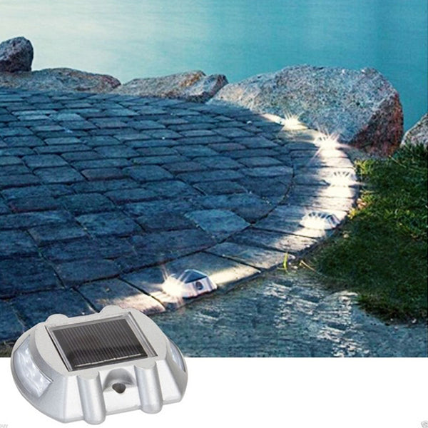 Zonne-energie White 6LED Road Oprit Pathway Trap Lights