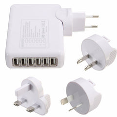 6 Port USB HUB Charger Wall Adapter AC Power Cord For iPhone PC Laptop Mobile Phone EU US AU UK Plug