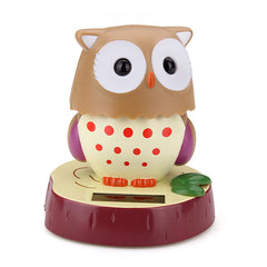 Car Home Office Solar Ornaments Decoration Cute Turned Owl Solar Doll