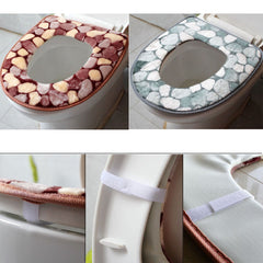 Bathroom Toilet Seat Cover Cotton Protective Closestool Pad Mat