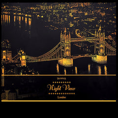 Scratch Golden City Night View Home Cafe Office Decor Paper Art