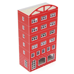 1/87 HO Scale Outland Scene Models Plastic Modern Red Building Business House