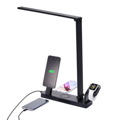 Multifunctional LED Desk Lamp With Apple Watch Stand TypeC Wireless Charging Pad For iPhone