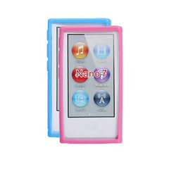 Fashion Soft Silicone Protective Case With Clip For iPod Nano 7