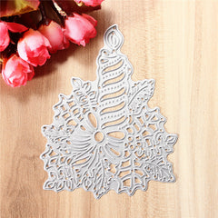 Metal Candle Die Cutting DIY Scrapbook Photo Paper Gift Party Decor Template Tool