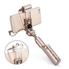 ADYSS 3-in-1 LED Selfie Stick Flash Light Drive By Wire Monopod For iPhone 6 6S Samsung