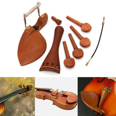 4/4 Full Size Wooden Violin Accessories Part Tailpiece/Chinrest/Pegs/Endpin Set