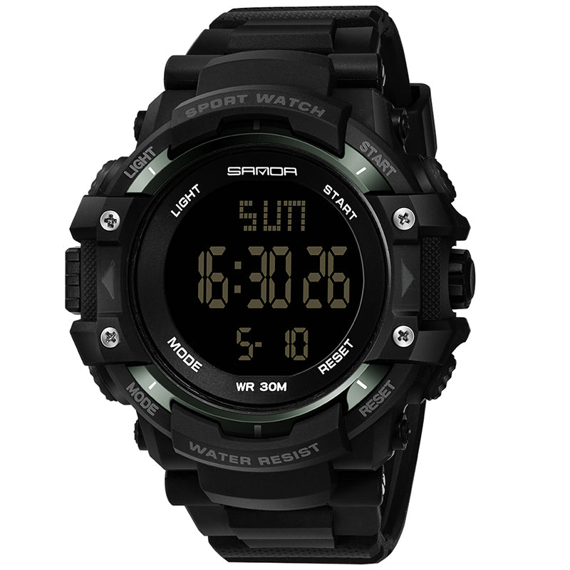 Wil je alles weten over SANDA 348 Digital Watch Military Outdoor Waterproof Stopwatch Men Wrist Watch? Hier lees je alles over Jewelry and Watch Quartz Watches