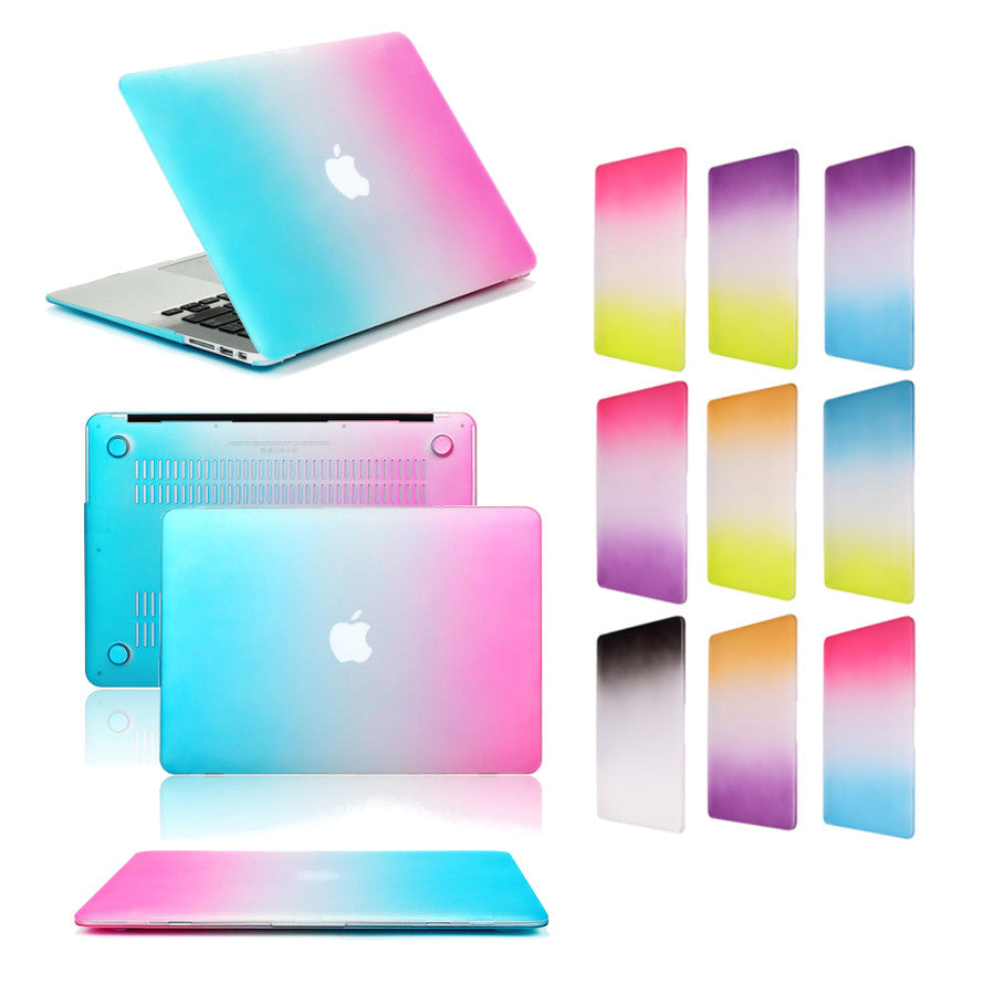 Gradient Color Ultra Slim Lightweight Scratch-proof Rainbow Case Cover For MacBook Air 11.6 Inch
