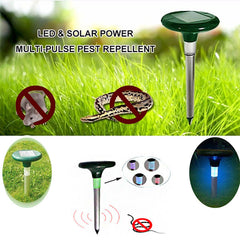 GreatHouse Garden Solar Power Mouse Repeller Sound Wave Pest Expeller With LED Light
